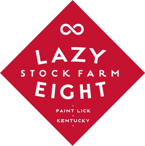 The Lazy Eight Stock Farm logo. The farm is based in Paint Lick, Kentucky. MACED helps farmers go solar and become more energy efficient
