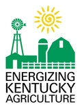 Energizing Kentucky Agriculture logo has a sun and farm image. The program is part of Governor office of agricultural policy (GOAP) office