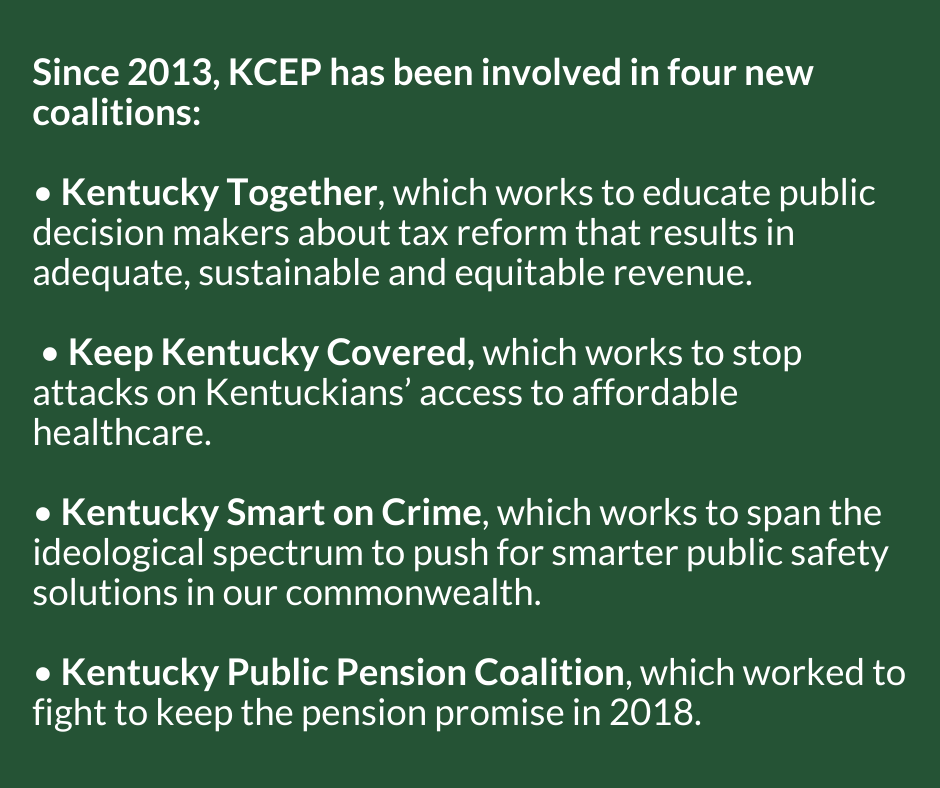 KCEP policy coalitions commonwealth