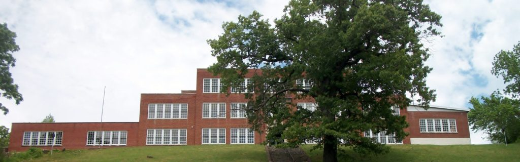 The restored Olive Hill High School sits on top of a hill. The school now hosts many community events and a museum in the eastern ky town