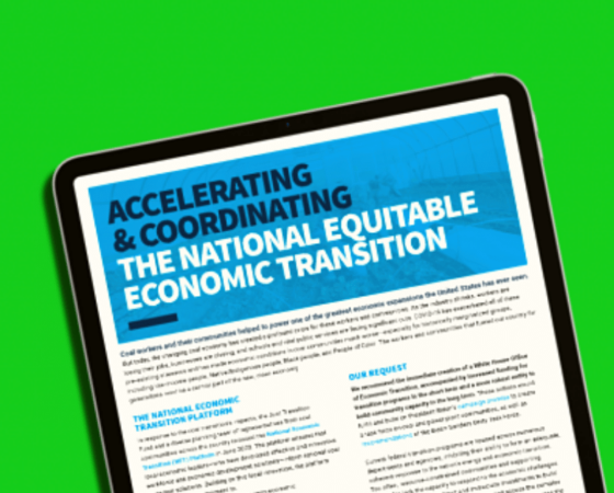 national economic transition biden harris coal