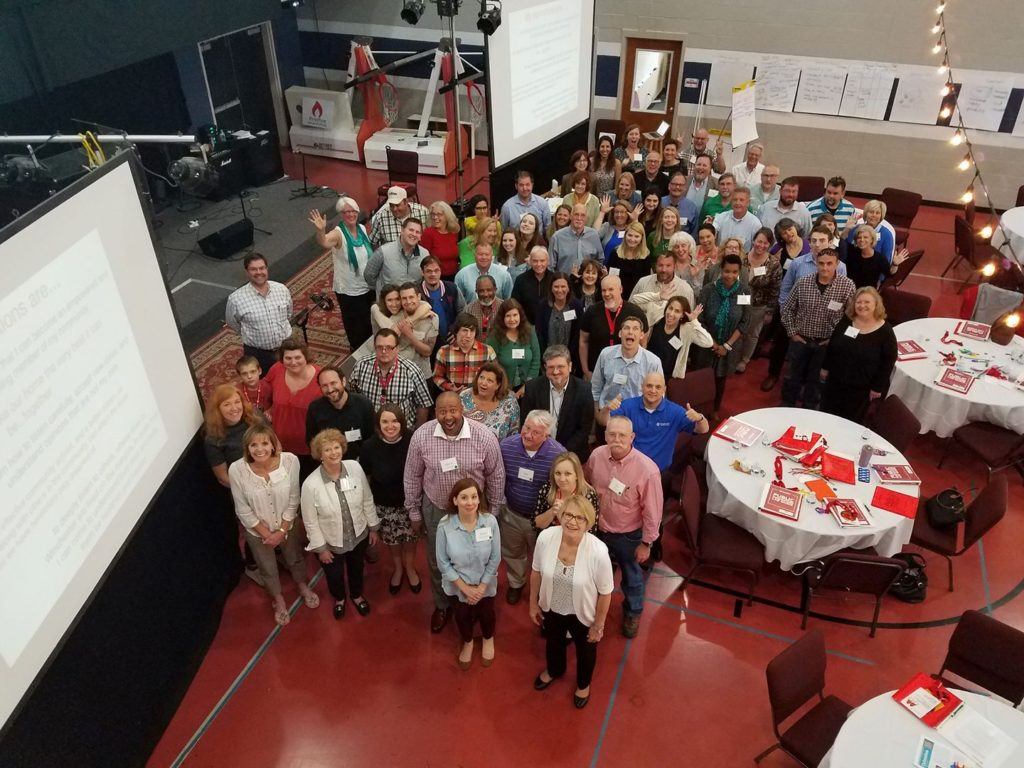 The group picture from Public Innovator's Lab 2016 in Winchester, Kentucky. They are now working for racial equity in Clark county
