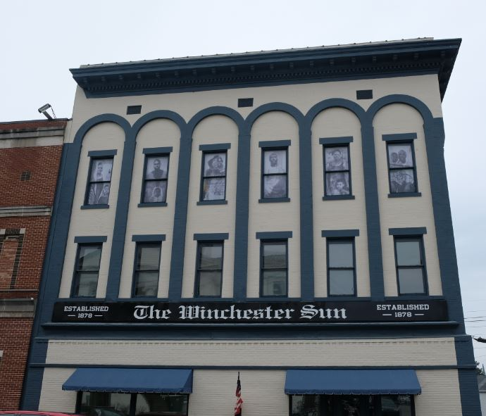 The Winchester Sun display highlights African American history in Clark County Kentucky, racial equity by better together winchester